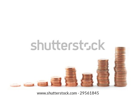 coins isolated (with clipping path)