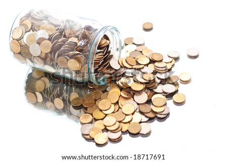 coins jar opened