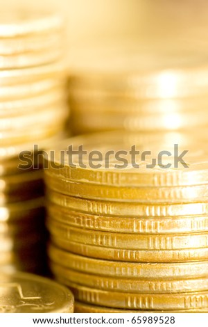 coins macro close up background