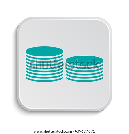 Coins.Money icon. Internet button on white background.