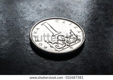 stock-photo-coins-of-czech-republic-one-