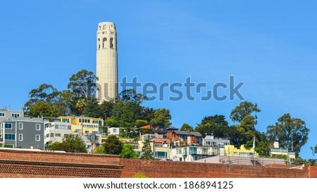 Coit Tower - San Francisco, California - stock photo