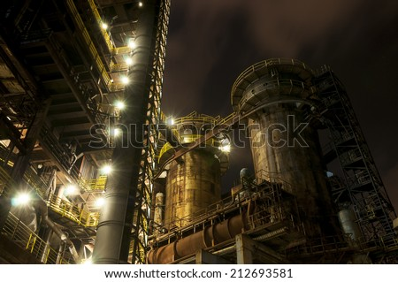 Coking plant, blast furnaces and the other technological facilities of metallurgical basic industry and energetics