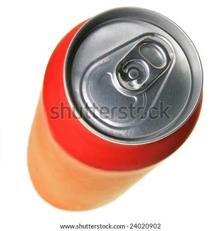 Cola can isolated over a white background