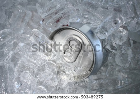 Cola can with ice