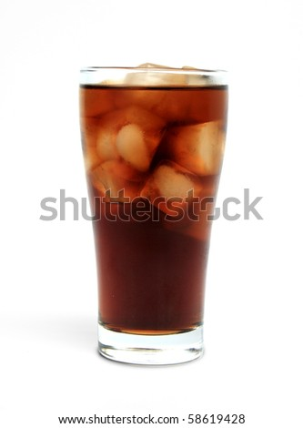 Cola cold drink with ice