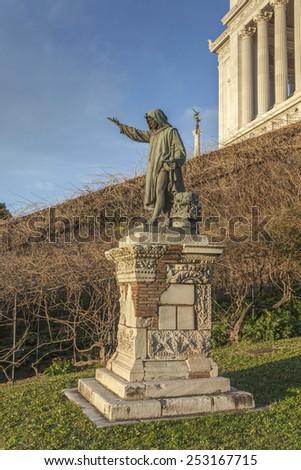 Cola di Rienzo statue on Capitoline Hill in Rome, Italy - stock photo