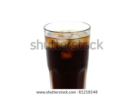 cola isolated in white background