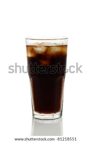 Cola isolated in white background - stock photo
