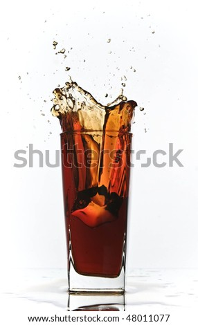 cola splash - stock photo