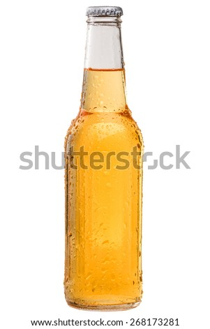 Cold and Refreshing Bottle of Beer - stock photo