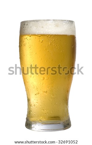 Cold Beer Glass isolated on white