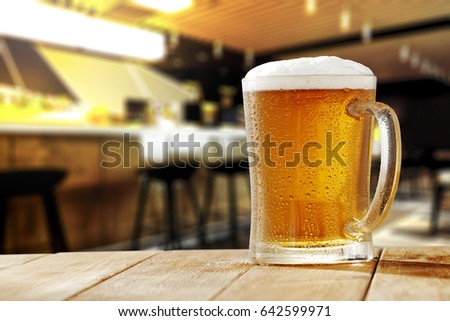 cold beer in bar