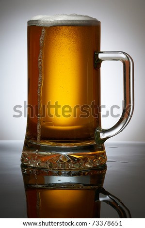 Cold Beer in glass - stock photo