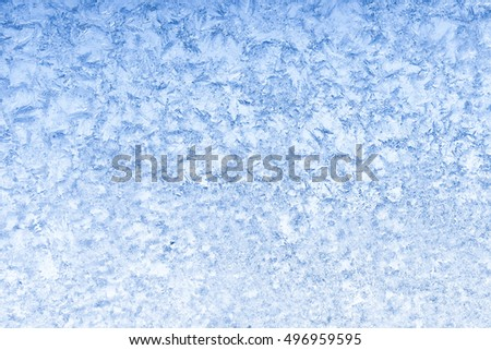Cold blue frosty winter textured ice background