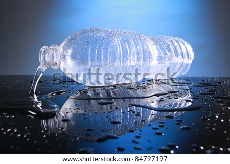 Cold bottled water - stock photo