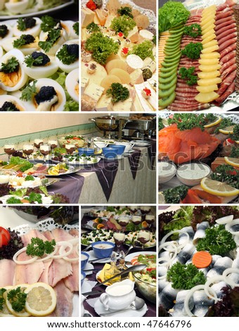 cold buffet - stock photo
