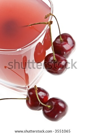 Cold cherry jelly shined from below glass table