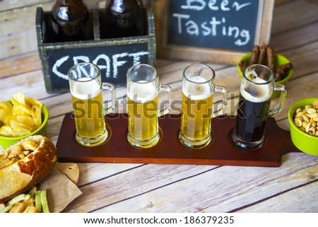 Cold Craft Beer  - stock photo