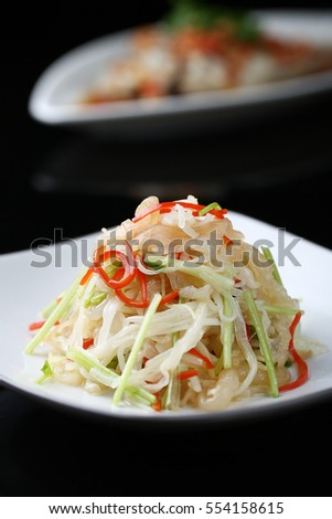 cold dish mixed jellyfish