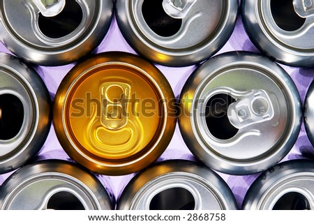 Cold drinks can - stock photo