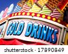 Cold Drinks Sign - stock photo