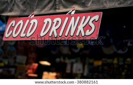 cold drinks sign