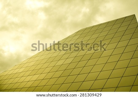 cold facade - stock photo