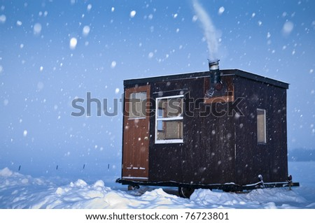 Cold Fishing - stock photo