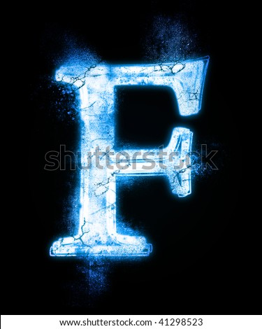 cold font from a dust . - stock photo
