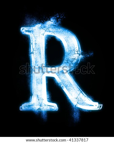 cold font from a dust - stock photo