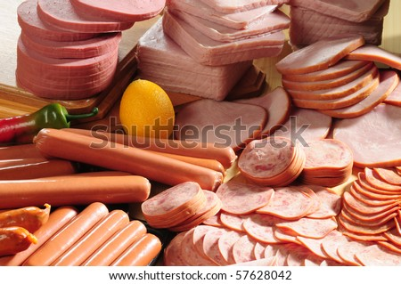 Cold meat. - stock photo