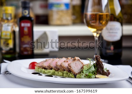 Cold meats on a plate