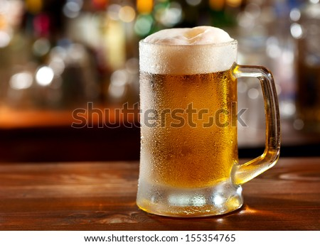 cold mug of beer