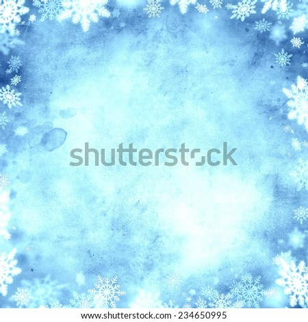 cold snow christmas blue background texture - stock photo