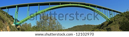 Cold Springs Bridge in Southern California near Santa Barbara - stock photo