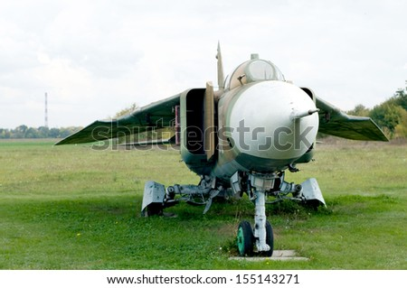 Cold war era jet fighter. Mig-23.