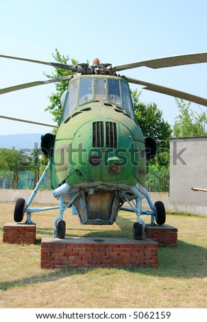 Cold war era Soviet helicopter - stock photo