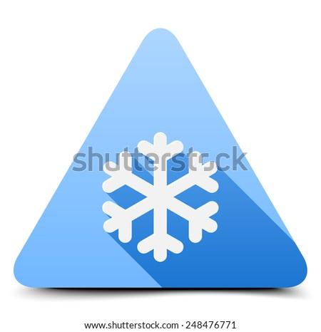 Cold Warning Sign - stock photo