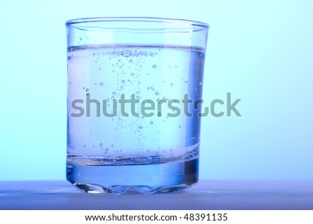 cold water in the glass