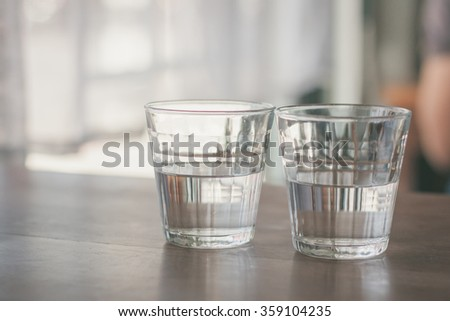 cold water on the table for body refreshing - stock photo