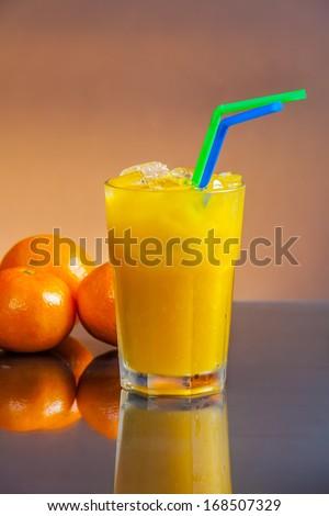 Cold wet orange juice  - stock photo
