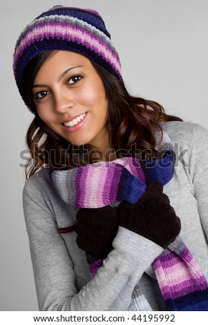 Cold Winter Girl - stock photo