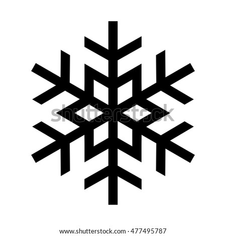 Cold Winter Snowflake Symbol Stock Illustration 477495787 Shutterstock