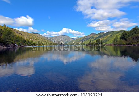Coldwater Lake formed by the eruption from Mount st Helens - stock photo