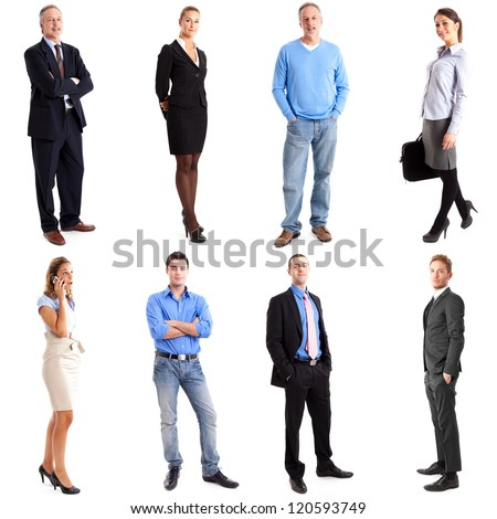 Colection of full length people - stock photo