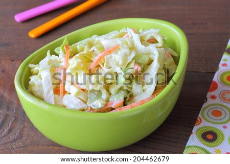 Coleslaw salad - stock photo