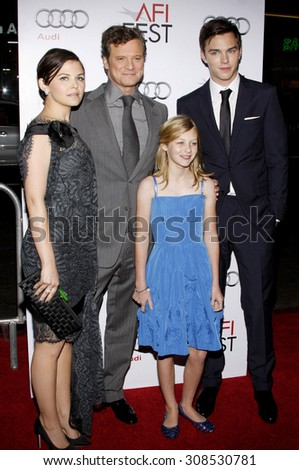 Colin Firth, Ginnifer Goodwin, Nicholas Hoult and Ryan Simpkins at the AFI FEST 2009 Screening of 'A Single Man' held at the Grauman's Chinese Theater in Hollywood, USA on November 5, 2009.