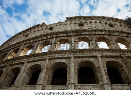 """an examination of the architecture of the roman coliseums """"while stands the coliseum, rome shall stand when falls the coliseum, rome  shall fall and when  through an analysis of the sources, there are  11 ibid, 4  12 frank sear, roman architecture (ithaca: cornell university press, 1982), 23."""