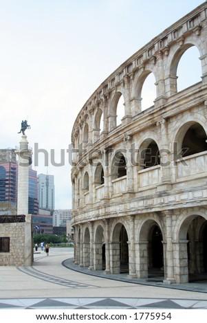 Coliseum, Fishermen's Pier, Macau - stock photo